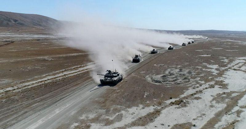 ნახიჩევანში აზერბაიჯანისა და თურქეთის საერთი სამხედრო წვრთნები მიმდინარეობს