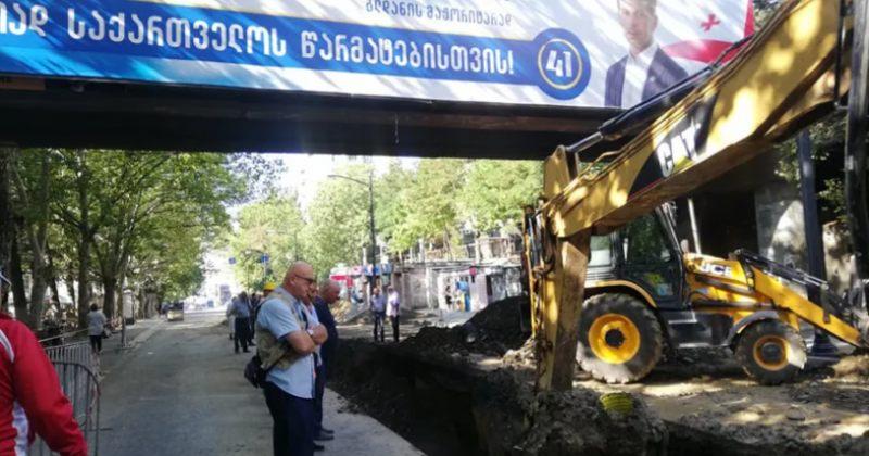 კალაძე: ხიზანიშვილის ქუჩაზე რეაბილიტაციისას ამოღებული მილები მოიპარეს