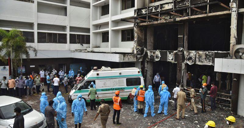 ინდოეთში საკარანტინო სასტუმროში გაჩენილი ხანძრის შედეგად 7 ადამიანი გარდაიცვალა