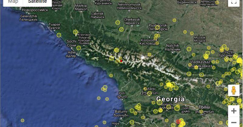 საქართველოში, აფხაზეთში 3.7 მაგნიტუდის მიწისძვრა მოხდა