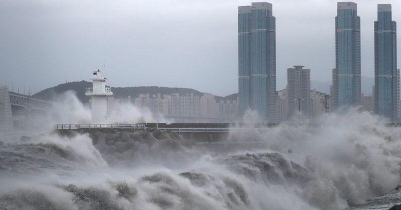 ტაიფუნ ჰაიშენის გამო სამხრეთ კორეაში 1000-მდე ადამიანის ევაკუირება მოხდა