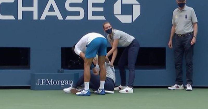 ჯოკოვიჩს US Open-ზე მსაჯისთვის ბურთის მორტყმის გამო დისკვალიფიკაცია მისცეს [Video]
