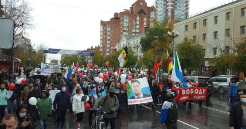 85-ე დღეა, რუსეთის ქალაქ ხაბაროვსკში საპროტესტო აქცია იმართება [VIDEO]