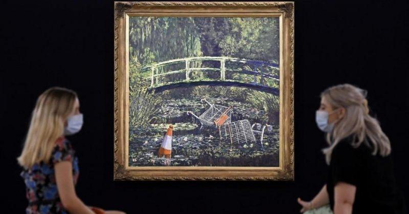 BANKSY-ს ნახატი, სადაც ის კლოდ მონეს ნახატს აშარჟებს, $9.8 მილიონად გაიყიდა