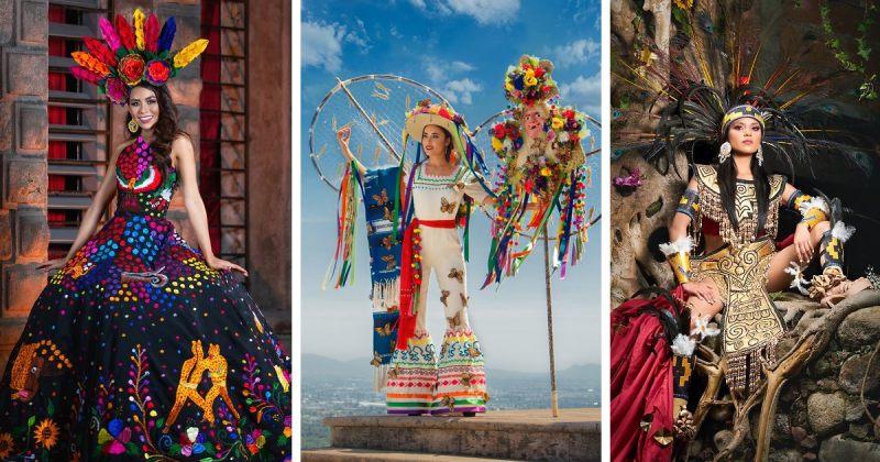 მის მექსიკის კონკურსანტები ეროვნულ კოსტიუმებში - ფოტოები