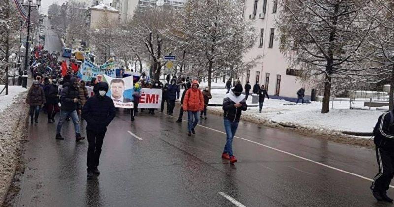 120-ე დღეა, რუსეთის ქალაქ ხაბაროვსკში საპროტესტო აქცია იმართება [VIDEO]