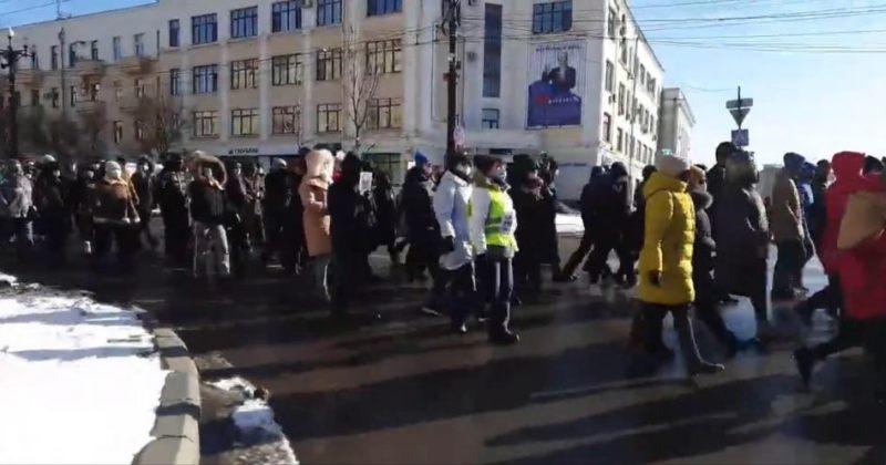 127-ე დღეა, რუსეთის ქალაქ ხაბაროვსკში საპროტესტო აქცია იმართება [VIDEO]