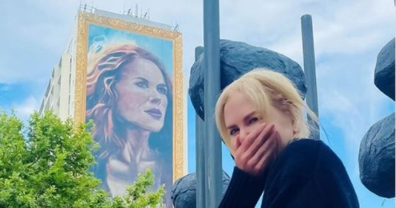 ავსტრალიაში თვრამეტსართულიან კორპუსზე ნიკოლ კიდმანის გამოსახულება დახატეს