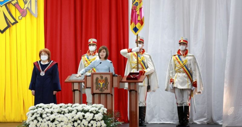 მოლდოვაში პირველი ქალი პრეზიდენტის, მაია სანდუს ინაუგურაცია გაიმართა