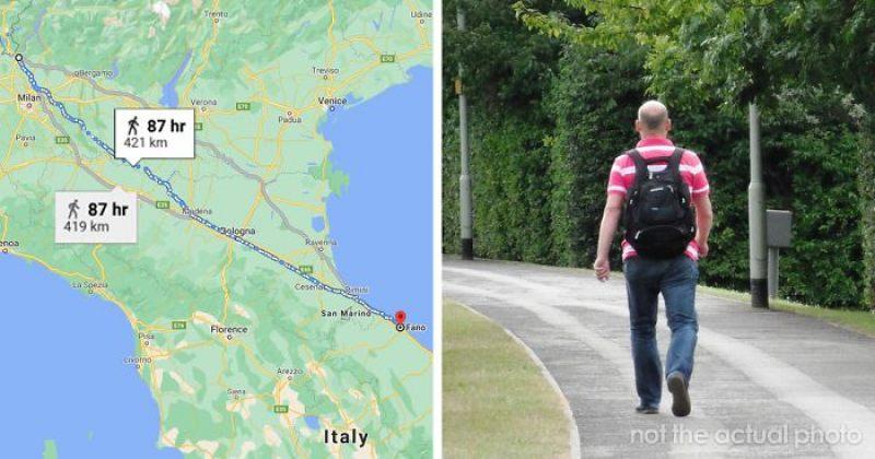 იტალიელმა კაცმა ცოლთან ჩხუბის შემდეგ განტვირთვის მიზნით 450 კილომეტრი გაიარა