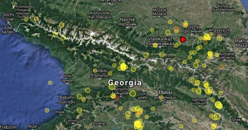 საქართველოს საზღვრიდან 50 კილომეტრში 5 მაგნიტუდის მიწისძვრა მოხდა