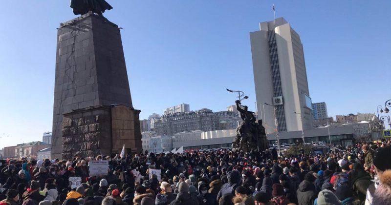 რუსეთის ზოგ ქალაქში ნავალნის მხარდამჭერი აქციები დაიწყო, აკავებენ მომიტინგეებს [VIDEO]