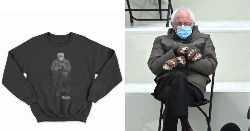 ბერნი სანდერსმა თავისივე ფოტო ტანსაცმელზე დაიტანა და ქველმოქმედებისთვის ყიდის