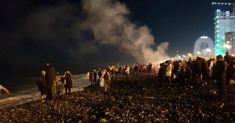 პანდემიის გამო ბათუმში ნათლისღებაზე ზღვაში შესვლის ტრადიცია არ შესრულდება
