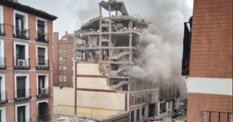 მადრიდში აფეთქების შედეგად შენობა ჩამოინგრა [Video]