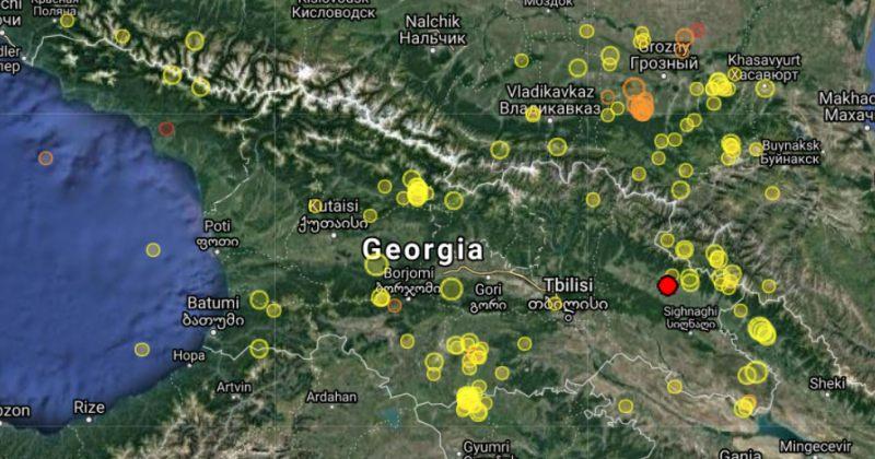 საქართველოში 3.9 მაგნიტუდის მიწისძვრა მოხდა