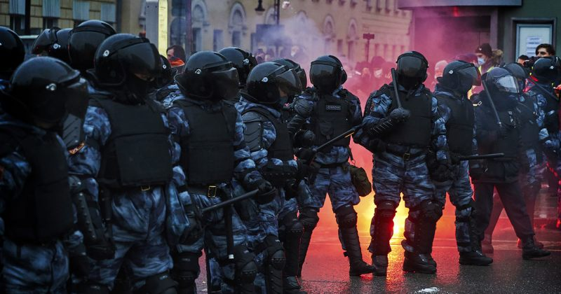 ფოტოები რუსეთში მიმდინარე საპროტესტო აქციებიდან