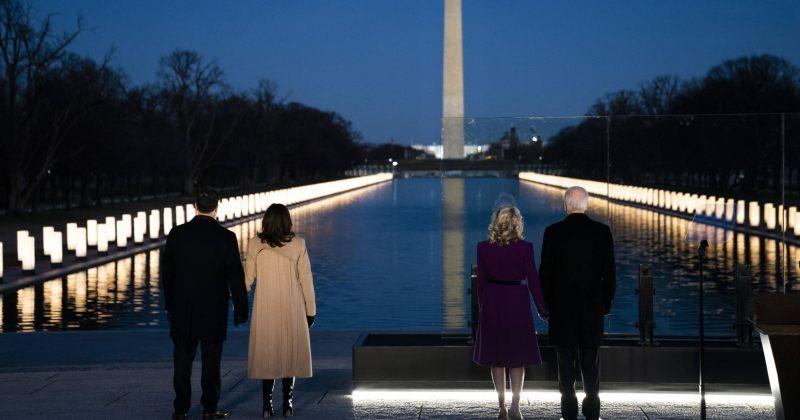 ჯო ბაიდენმა COVID-19-ით გარდაცვლილი ამერიკელების ხსნოვნას პატივი მიაგო