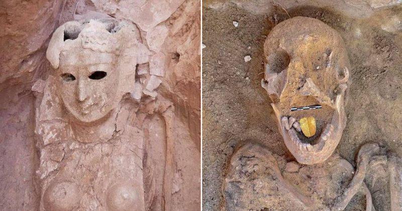"""ეგვიპტეში 2000 წლის """"ოქროს ენიანი"""" მუმიები აღმოაჩინეს"""