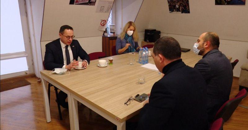ლიტვის სეიმის საგარეო კომიტეტის თავმჯდომარე ევროპული საქართველოს ოფისში ლიდერებს შეხვდა
