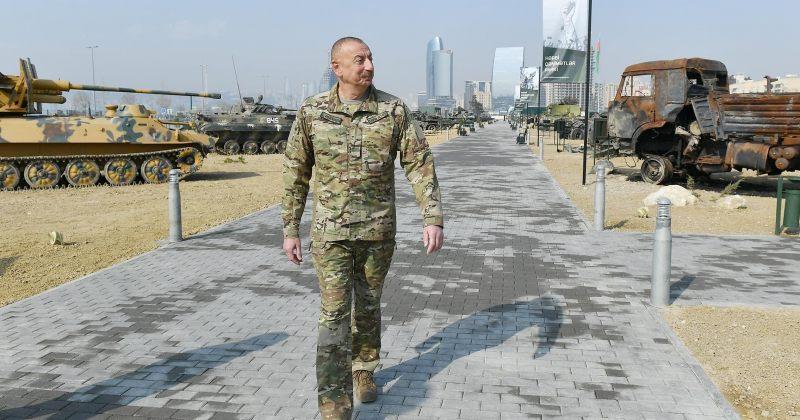 ყარაბაღის ომში გამარჯვების აღსანიშნად, ალიევმა სამხედრო ალაფის პარკი გახსნა