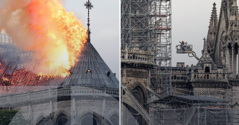 პარიზის ღვთისმშობლის ტაძრის ხანძრიდან 2 წელი გავიდა – რა ეტაპზეა აღდგენითი სამუშაოები