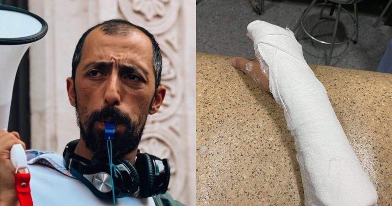 სირცხვილია: პოლიციელებმა გიგა მაქარაშვილს დაკავების დროს ხელი მოსტეხეს