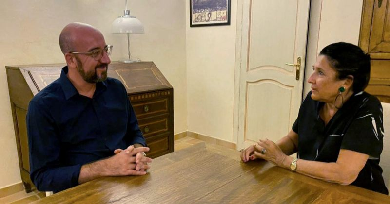 პრეზიდენტის ადმინისტრაცია: ზურაბიშვილმა და შარლ მიშელმა არაფორმალური შეხვედრა გამართეს