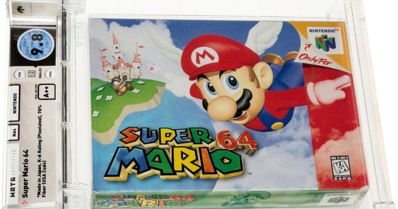 კომპიუტერული თამაში SUPER MARIO 64 რეკორდულ ფასად, 1.5 მილიონ დოლარად გაიყიდა