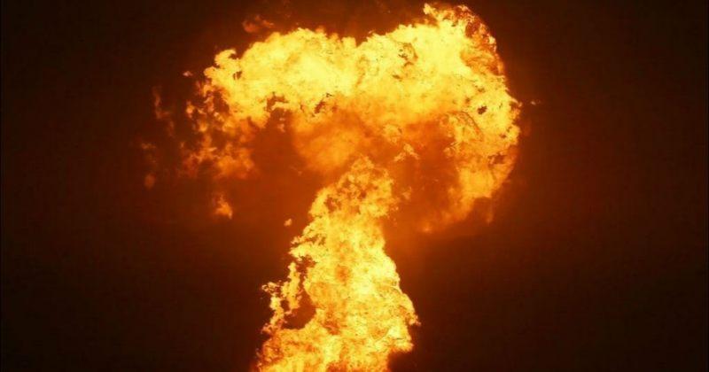 კასპიის ზღვაში ცეცხლი ამოიფრქვა [VIDEO]
