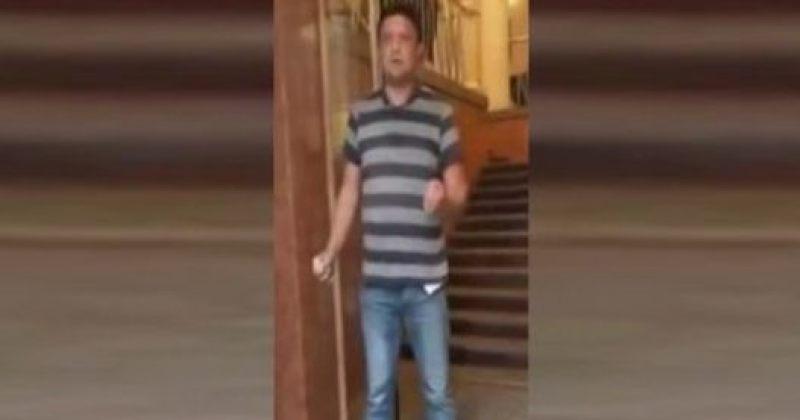 უკრაინის მთავრობის შენობაში კაცი შეიჭრა და ყუმბარის აფეთქებით იმუქრება [ვიდეო]