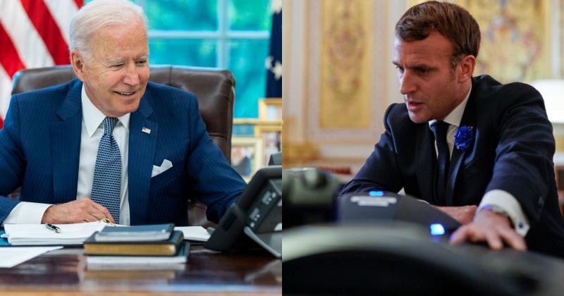 ბაიდენის და მაკრონის სატელეფონო საუბრის შემდეგ საფრანგეთის ელჩი ვაშინგტონში ბრუნდება
