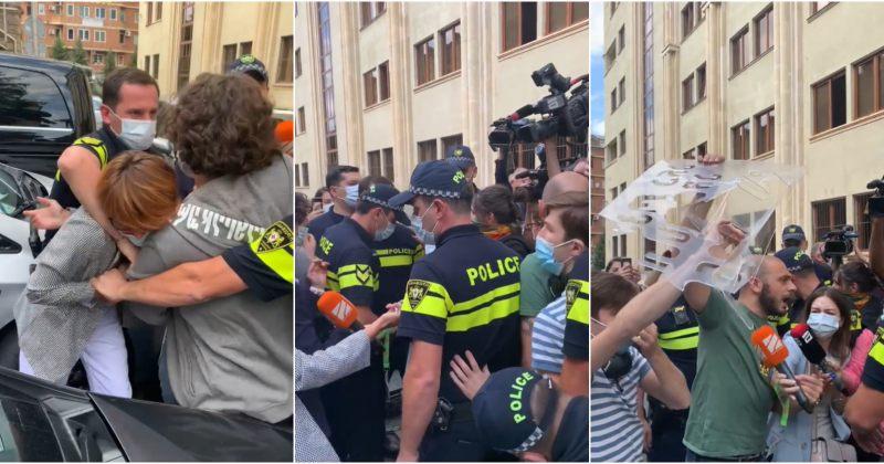 სირცხვილია: პოლიციამპარლამენტთან ძალის გამოყენებითსტენსილები, პულვერიზატორები წაგვართვა